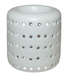 Brule parfum à bougie pas cher, photophore design céramique blanche.