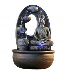 Large indoor fountain Zen Buddha harmony led lighting.