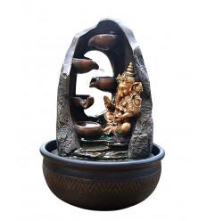 Fontaine d'intérieur Ganesh éclairée led, originale et orientale.