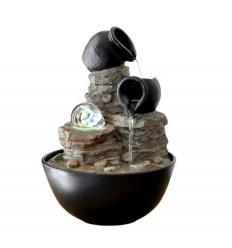 Fontaine d'intérieur verso nature, décorative zen, boule tournante.