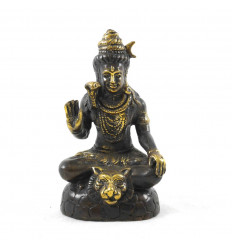 Statuette Shiva en Bronze Massif 13cm. Artisanat asiatique.