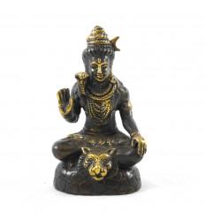 Statuette Shiva in Solid Bronze 13cm. Asian crafts.