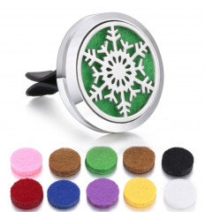 Modify: Clip-on car perfume diffuser + 10 blotters - Christmas collection - Snowflake