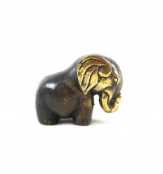 Deco Statuette Abstract Elephant in Solid Bronze 7cm