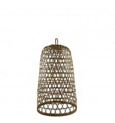 Sospensione in rattan e bambù Modello Ubud ø22cm - Creazione artigianale