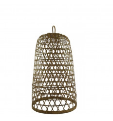 Rattan and Bamboo Suspension Ubud Model ø26cm - Handcrafted creation