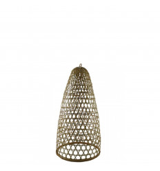 Suspension en Rotin et Bambou Modèle Jimbaran 43cm - Création artisanale