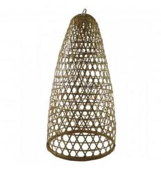Sospensione in rattan e bambù modello Jimbaran 60cm - Creazione artigianale