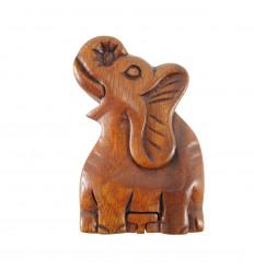Elephant Secret Box in tinted suar wood