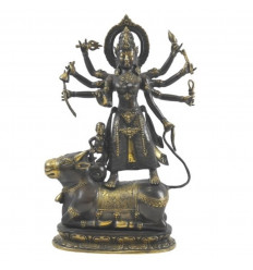 Large Statue of Shiva on the Nandi Bull in Solid Bronze 40cm. Asian crafts