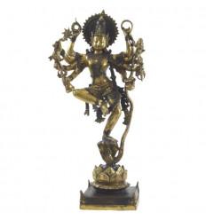 Grande statua Shiva Nataraja in bronzo 66 cm. Artigianato asiatico. Pezzo unico