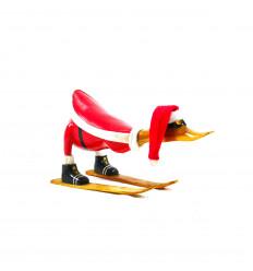 Grand canard décoratif en bois 35cm - Tout schuss - profil