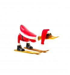 Large decorative wooden duck 35cm - All schuss - profile