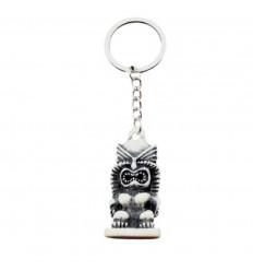 Porte-clé /Déco de sac Tiki blanc - Style polynésien