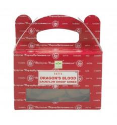 Box of 24 incense cones Backflow Dragon Blood - Natural Indian Incense Satya Sai Baba