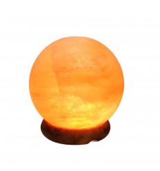 Lampe USB en cristal de sel d'Himalaya en forme de sphère