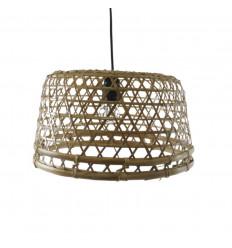 Suspension en rotin et bambou Ø35cm - Création artisanale