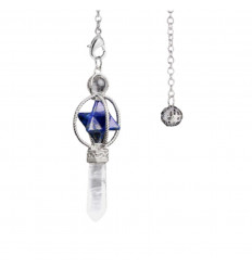Pendulum Crystal of rock, cone shape polished.