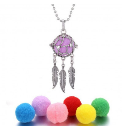 Car perfume diffuser - 5 blotters - Silver Model Dream Catcher - Hearts