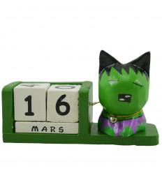 Supereroi Perpetual Cat Calendar in legno rosso - Spiderman