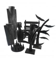 Destocking! Lot of 8 decommissioned jewellery displays - black wood