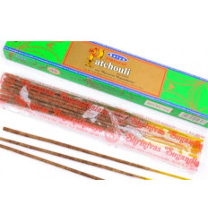 Incense, Natural Patchouli. Lot of 60 sticks brand Satya Sai Baba