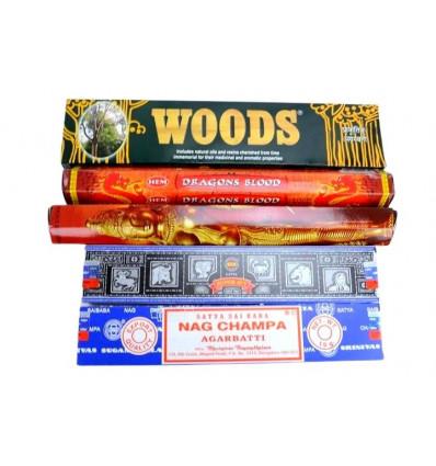 """Assortiment d'encens """"Best of India"""" les meilleurs encens indiens"""