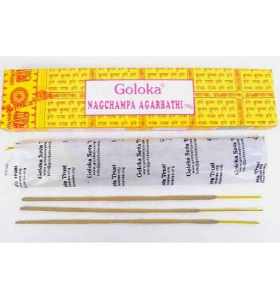 Incenso Indiano Goloka Nag Champa 5 caselle di 16g o 60 bastoni