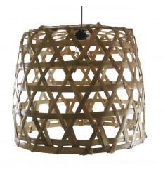 Suspension en rotin et bambou Ø43cm - Modèle Lovina Beach - Création artisanale