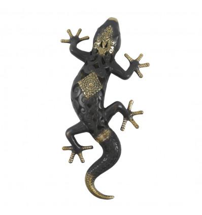 Salamandre / Gecko bronze 33cm. Statue deco crafts of the world.