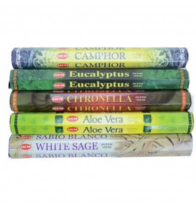 "Assortment of incense - Bouquet ""Medicinal Plants"" (5 perfumes). Lot of 100 sticks brand HEM."