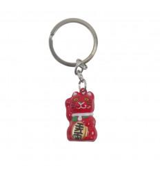 Keyring Maneki Neko Red bell - Japanese lucky cat