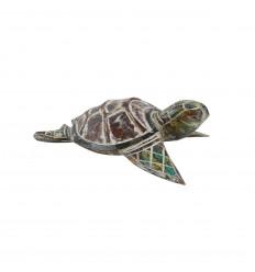 Petite tortue - Bois sculpté et peint à la main