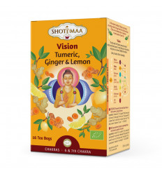 Herbal infusion organic ayurvedic ginger lemon chakra Shoti Maa.