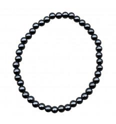 Natural Howlite bracelet - 4mm balls