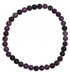 Natural Lepidolite bracelet - 4mm balls