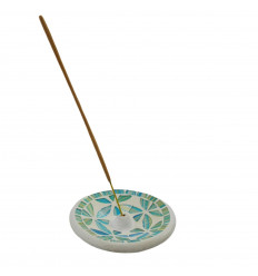 Terracotta incense holder and multicolored mosaic for sticks - 15cm