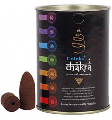 Scatola di 24 coni di incenso Backflow Goloka Chakra - Incenso indiano naturale