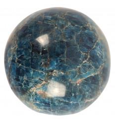 Blue Apatite Sphere of Madagascar. Unique piece for Collector.