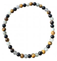 Labradorite / Onyx / Tiger Eye Grade A bracelet - 4mm balls