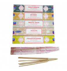 Purification Bouquet - SATYA incense assortment 5 fragrances - batch of 60 sticks