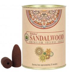 Scatola da 24 coni di incenso Backflow Goloka Sandalwood - Incenso indiano naturale