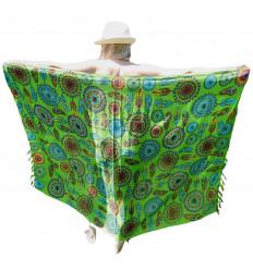 Pareo Green pattern Dream catcher Multicolor - 160x110cm
