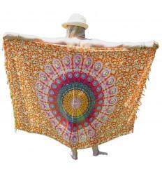 Pareo Multicolor Mandala pattern ed Elefanti - 160x110cm