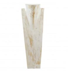 Grand présentoir, buste d'exposition en bois collier long sautoir.