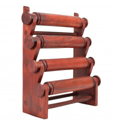 Display bracelets and watches 4 rods, solid wood-red hue