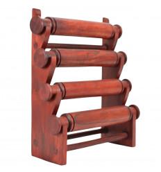 Display bracciali ed orologi di 4 aste in legno massiccio-colore rosso