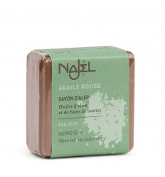 Soap of Aleppo face with red clay, detoxifying treatment toning.