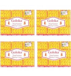 Encens Indien Goloka Nag Champa - lot de 4 boîtes de 10 cônes