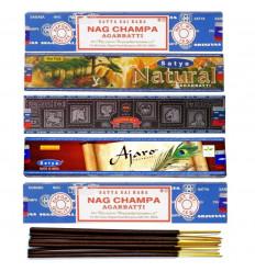 "Assortiment d'encens ""Best of Satya Sai Baba"". Lot de 5 boîtes de 15g, soit 60 bâtons"